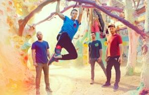 Multicoloured dreamscapes … Coldplay.