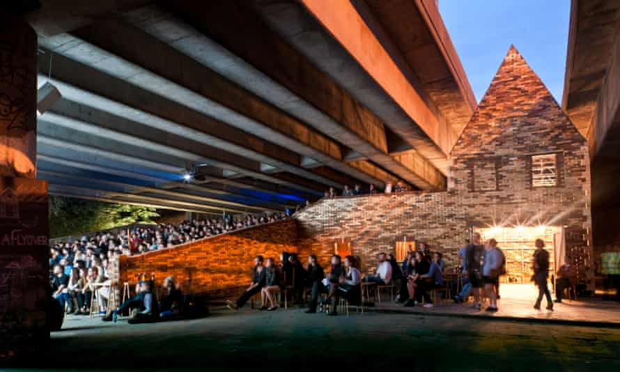 Folly for a Flyover, by Assemble, which in 2011 transformed a motorway undercroft in Hackney, east London into a new public space.