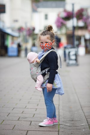 Devizes: Penny Petwerick wears her face mask out shopping on the high street