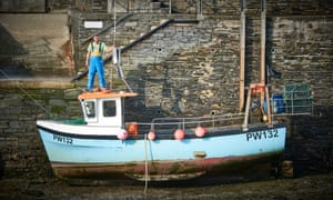 Fisherman Johnny Murt photographed in Padstow harbour for Observer Food Monthly