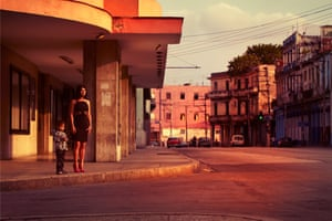 Havana at dusk by Alice Hawkins.