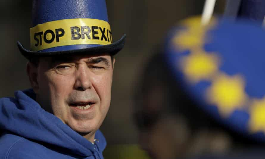 Pro-EU membership supporters protest in Westminster