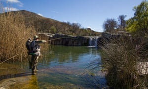 Alan Hobson casts out in the Little Fish river near Cradock