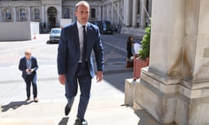 Foreign Secretary Dominic Raab arrives at the Foreign and Commonwealth Office