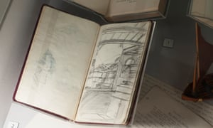 Arthur Ransome's Sketch Book at Windermere Jetty. Image courtesy Lakeland Arts. Photographer Jan Chlebik. Windermere Jetty Museum of Boats, Steam and Stories opens on 23 March 2019, following a major £20m development by Lakeland Arts working with architects Carmody Groarke and exhibition designers Real Studios