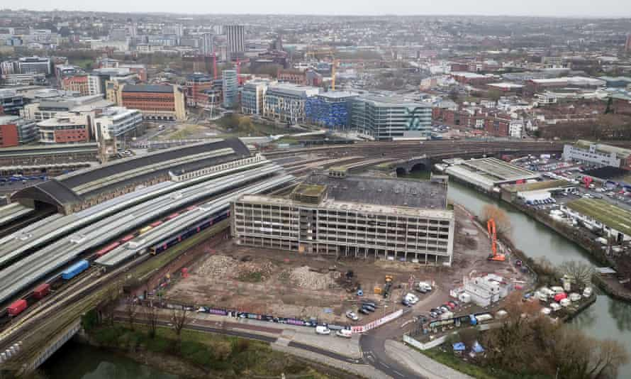 The Temple Quarter site is next to Bristol Temple Meads train station.
