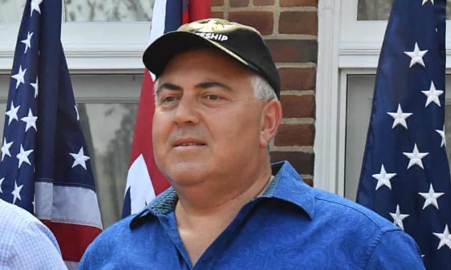 Joe Hockey at the ambassador's residence in Washington DC last year