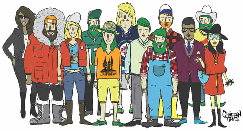 Canada's urban tribes. All illustrations by Carson Ting