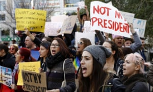 Donald Trump's victory on Tuesday night has sparked demonstrations in major cities across the US.