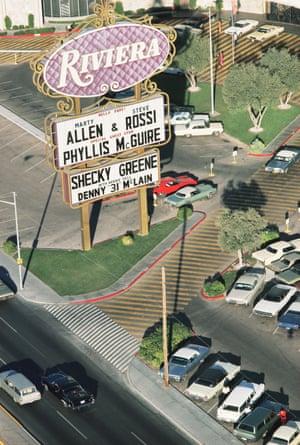 Riviera Hotel and Casino sign, Las Vegas, 1968 from the LAS VEGAS STUDIO series