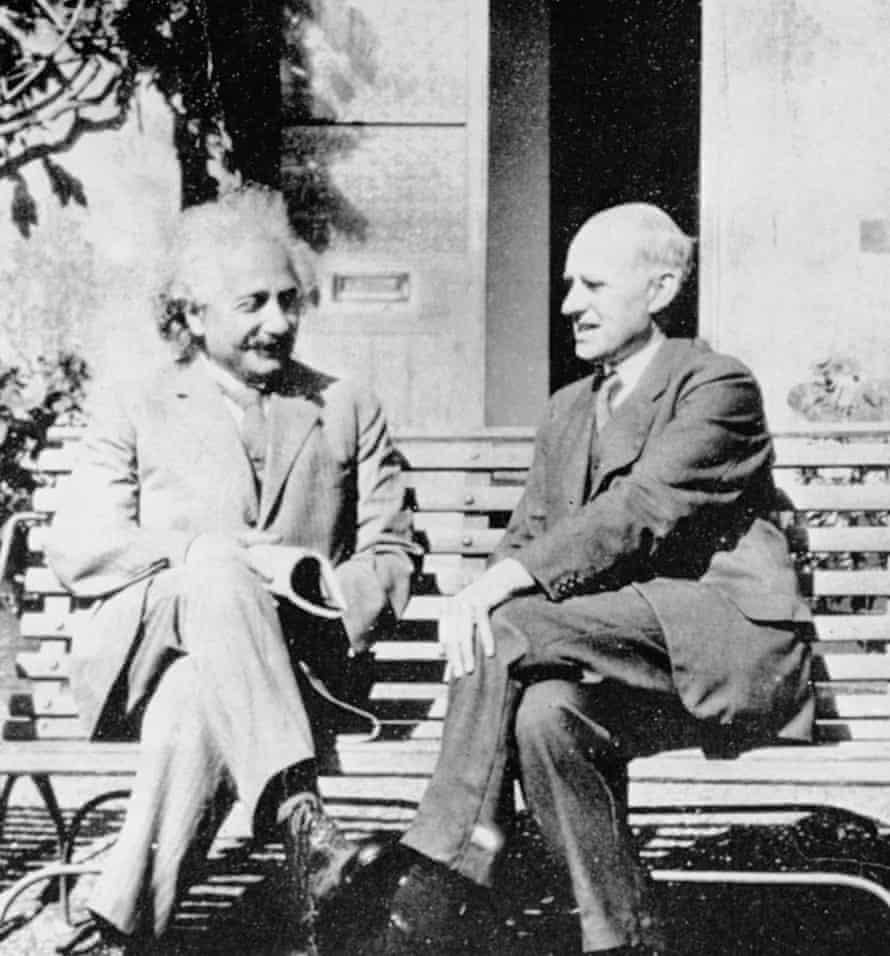 Einstein, left, and Eddington at the University of Cambridge Observatory, in 1930.