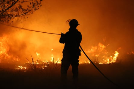 A firefighter on the NSW south coast