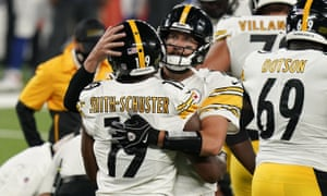 JuJu Smith-Schuster and Ben Roethlisberger teamed up in the Steelers' victory over the Giants