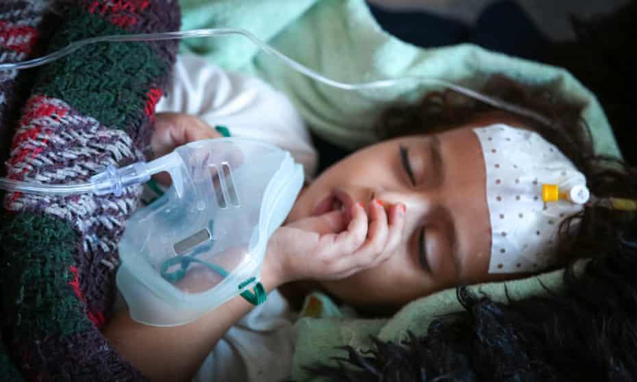 Three-year-old Sameera is treated for cholera in a hospital in Sana'a, Yemen