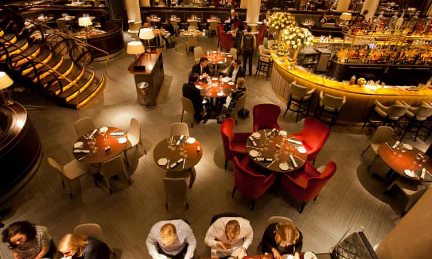 Quaglino's restaurant, in Piccadilly, London.
