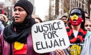 'Justice For Elijah' protest, Melbourne, Australia - 28 July 2017