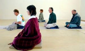 Meditating in Australia.
