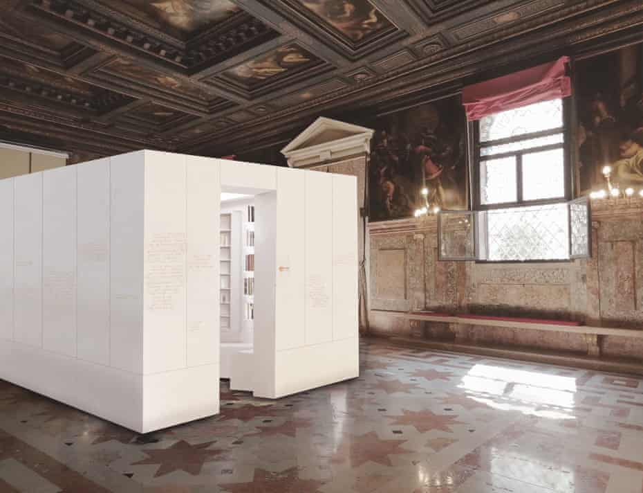 Place of voices … Psalm's library installation in the Ateneo Veneto.
