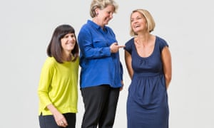 Women's Equality party leaders, from left, Catherine Mayer, Sandy Toksvig and Sophie Walker.