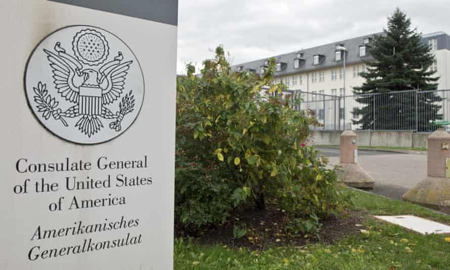 US consulate in Frankfurt, Germany.