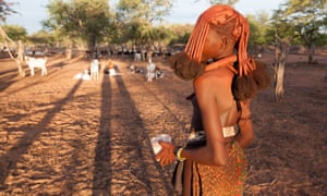 Under African skies: a young Himba woman.