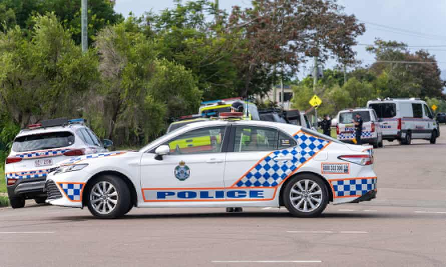 File photo of Queensland police vehicles