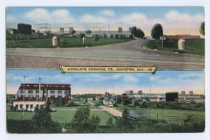 This postcard of the Monsanto factory in Anniston appears in Asselin's book.