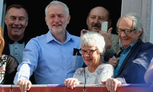 Film-maker Ken Loach with Jeremy Corbyn. Loach said 'It's funny these stories suddenly appeared when Jeremy Corbyn became leader, isn't it?'