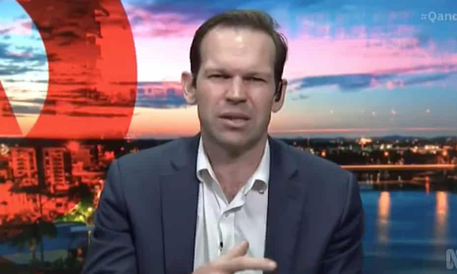 Nationals senator Matt Canavan on the ABC Q+A program