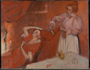 Degas Combing The Hair Le Coiffure A Glimpse Behind The Curtain