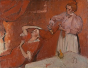Combing the Hair ('La Coiffure') by Edgar Degas (about 1896).