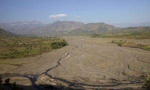 A dried up river bed in Ethiopia's northern Amhara region reveals the effects of climate change.