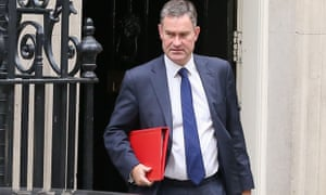 David Gauke leaves 10 Downing Street.