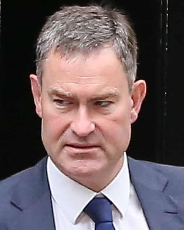 David Gauke, the secretary of state for work and pensions, at Downing Street.