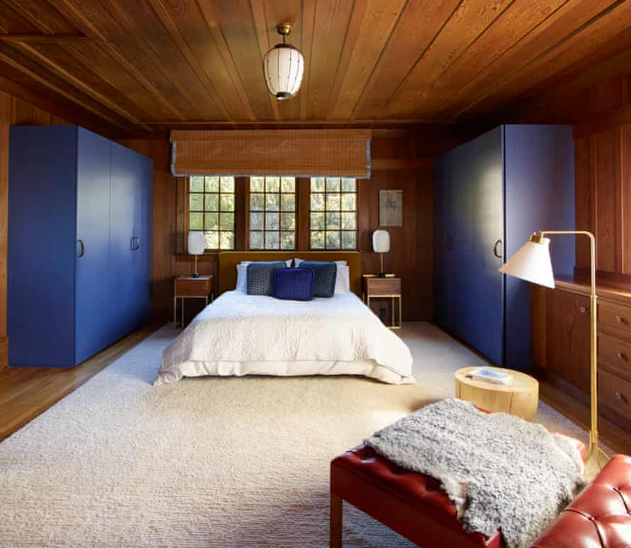 Getting cosy: the master bedroom, with furniture by Commune and Henribuilt, and a rug by Christopher Farr.