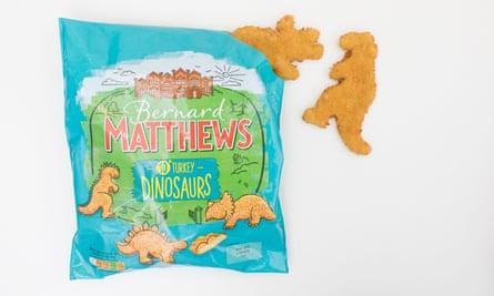 Bernard Matthews turkey dinosaurs.