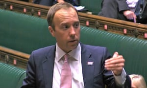 Matt Hancock in the House of Commons on Tuesday.