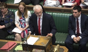 Jeremy Corbyn at prime minister's questions