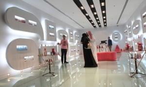 Shoppers at the al-Hayatt mall in Riyadh.