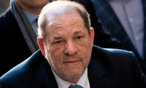 Harvey Weinstein arrives at the Manhattan Criminal Court in New York City in February.