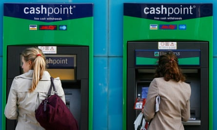 An ATM in west London