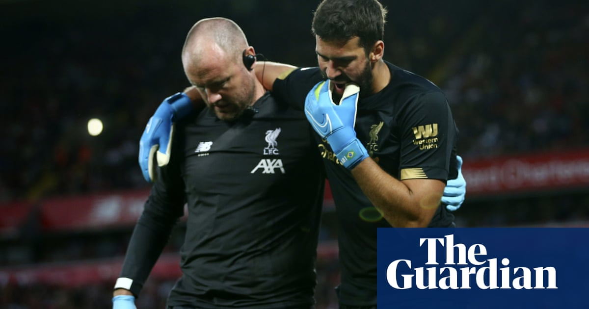 Liverpool sweat on Alisson calf injury with goalkeeper set to miss Super Cup