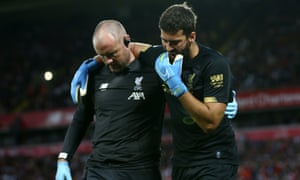 Liverpool sweat on Alisson calf injury with goalkeeper set
