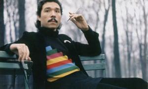 Antonio Lopez in Jardin du Luxembourg, Paris, in 1971.