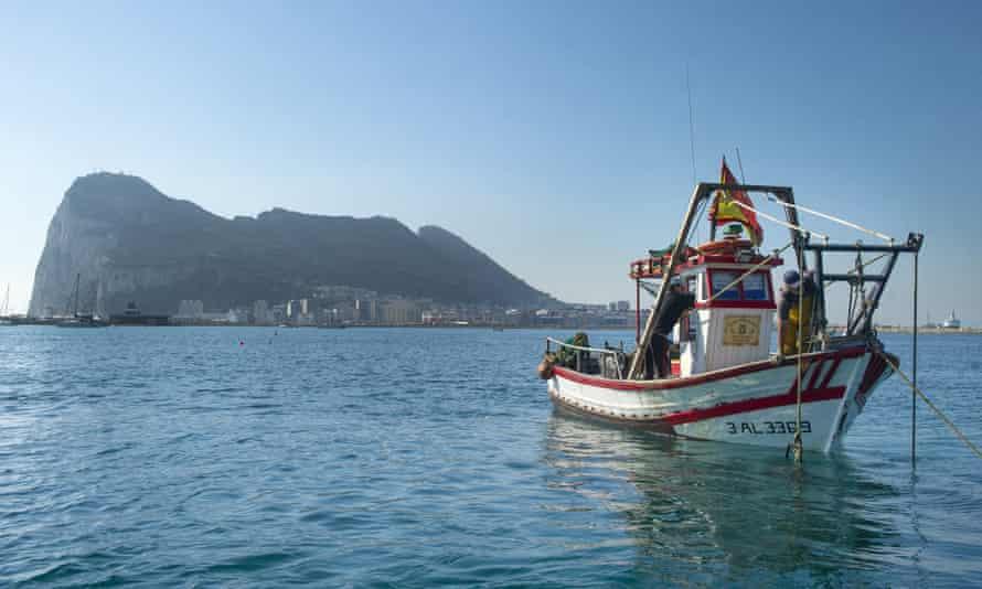 A fishing boat near Gibraltar