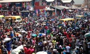 Balogun market in central Lagos.