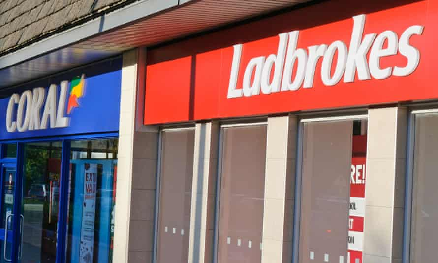 Coral and Ladbrokes betting shops beside each other