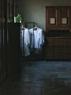 Religious vestments hanging in a church