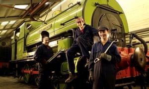 Volunteers at Stephenson Railway Museum