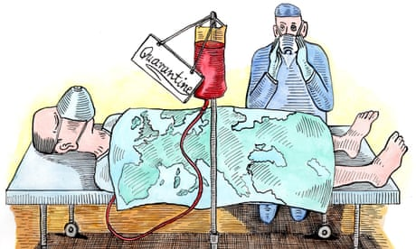 Andrzej Krauze on Europe's attempts to avoid further Covid-19 outbreaks – cartoon